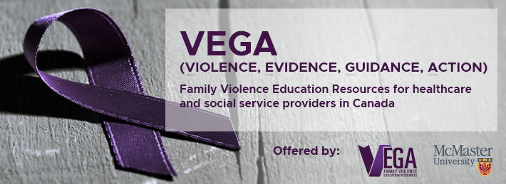 Image promoting VEGA resources (Violence, Evidence, Guidance, Action)